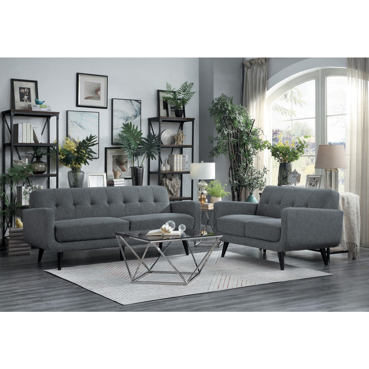 2PC set (sofa + Loveseat)