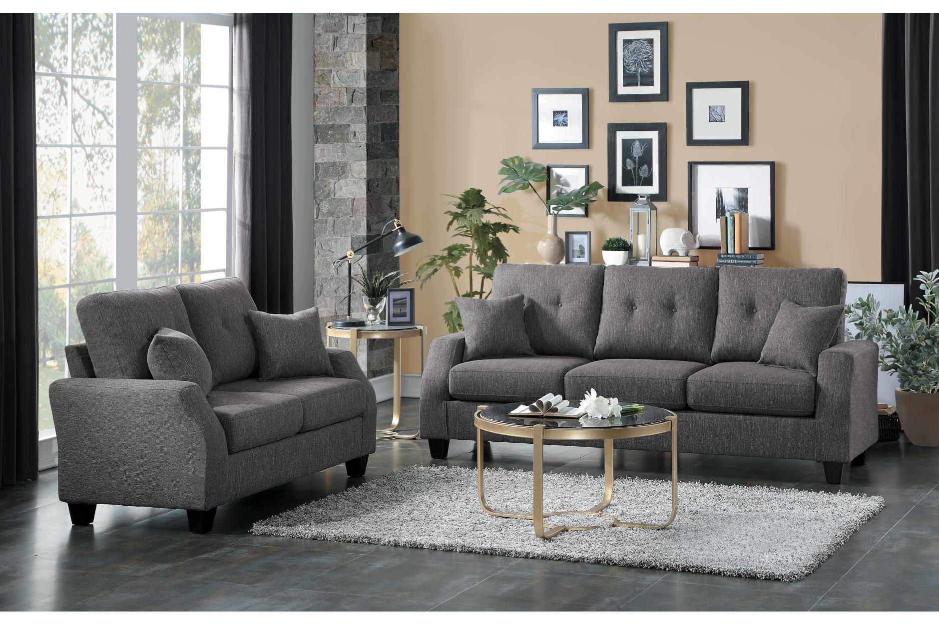 2PC Sofa & Loveseat