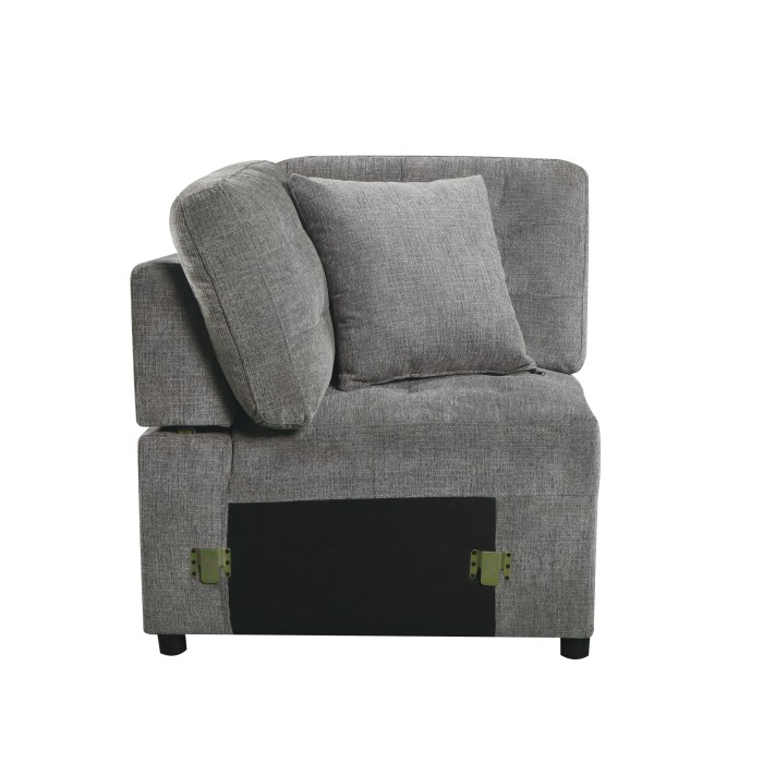 4-Piece Sectional with Pull-out Ottoman/9401GRY*42LRU
