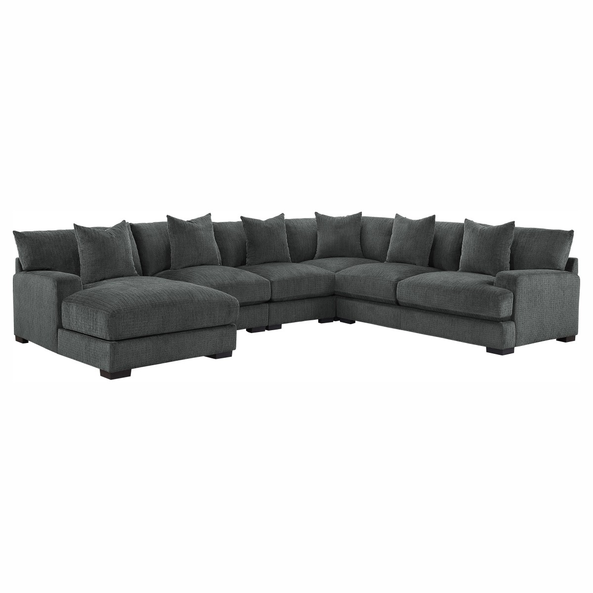 9857DG*5LC2R 5-Piece Modular Sectional with Left Chaise