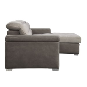 2-Piece Sectional with Pull-out Bed and Hidden Storage/9808*SC