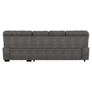 2-Piece Sectional with Pull-out Bed and Right Chaise with Hidden Storage/9407DG*2RC3L