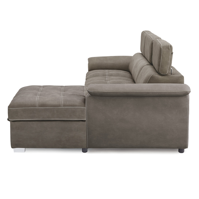 2-Piece Sectional with Pull-out Bed and Hidden Storage/8228TP*