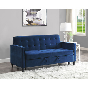 Convertible Studio Sofa with Pull-out Bed/9427NV-3CL