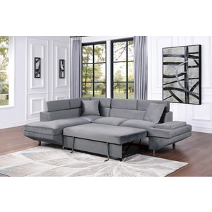 2-Piece Sectional with Left Chaise/9412GY*SC