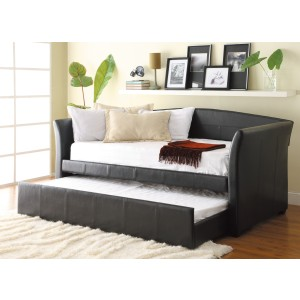 Daybed with Trundle, Dark Brown P/U/4956PU*
