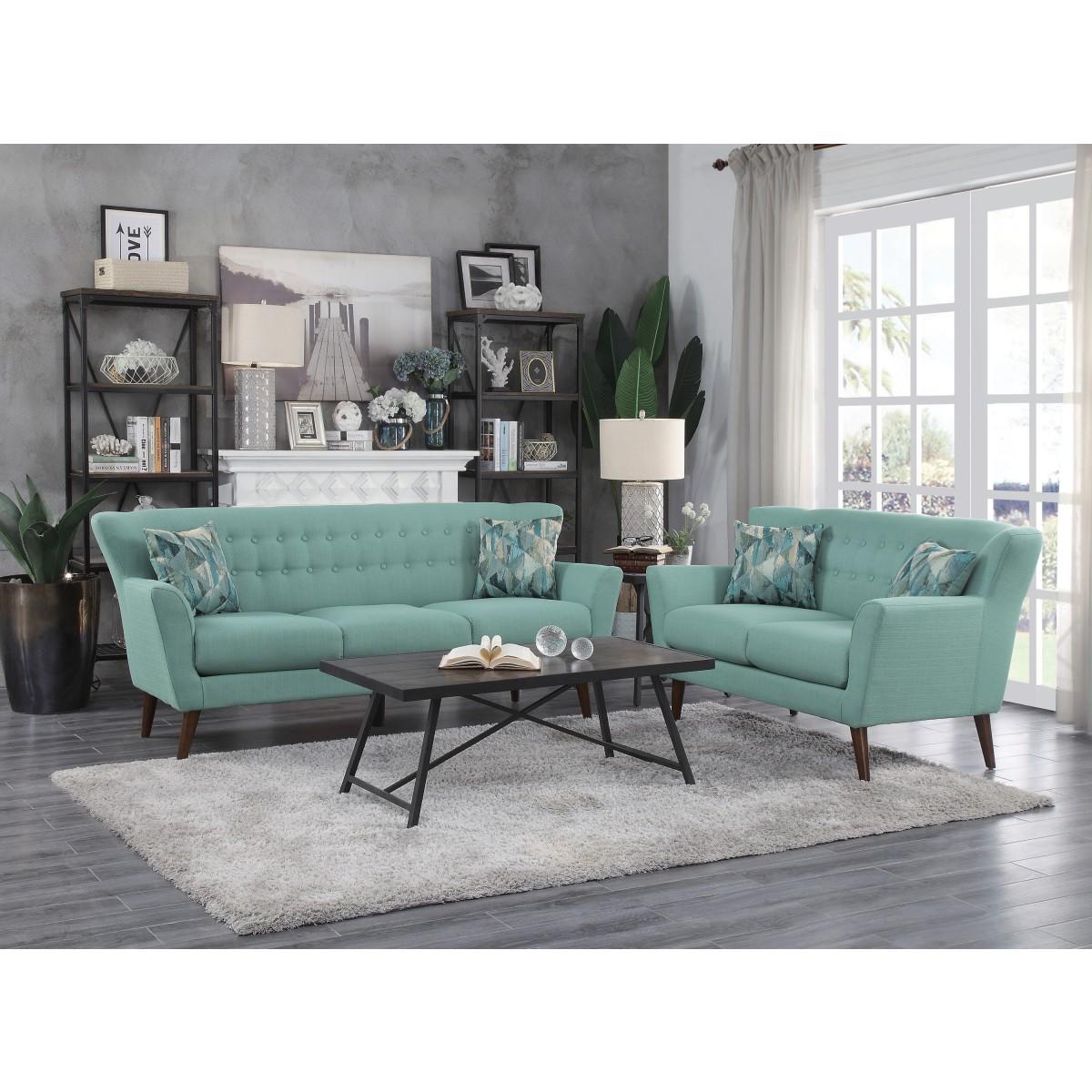 2PC Living Set (Sofa + Loveseat)
