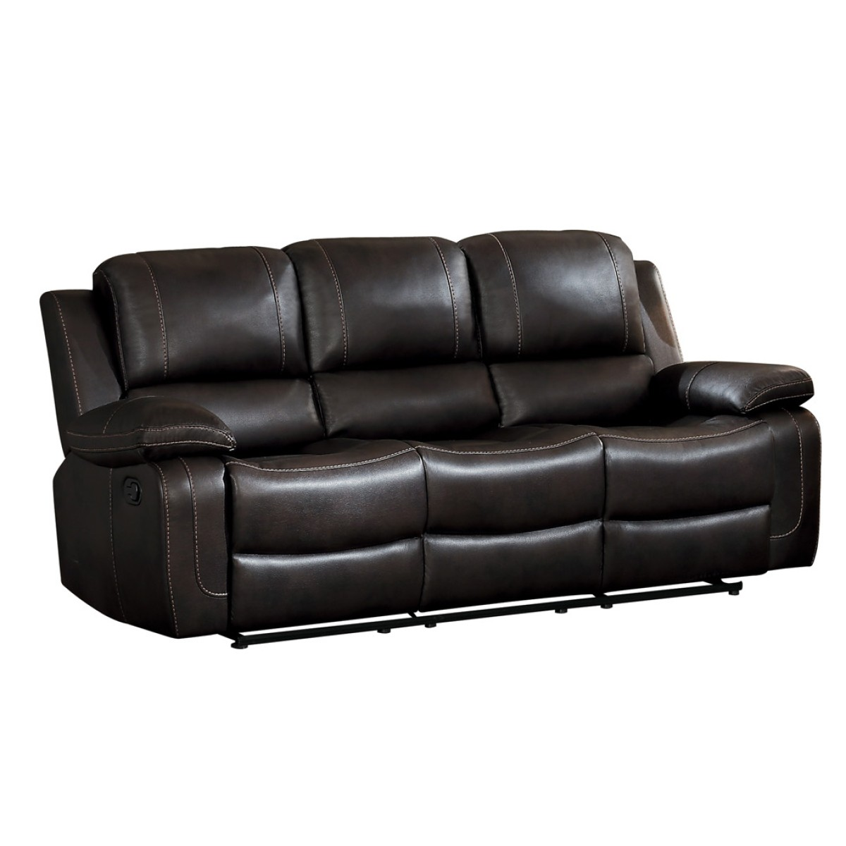 8334dbr 3 Double Reclining Sofa With Center Drop Down Cup