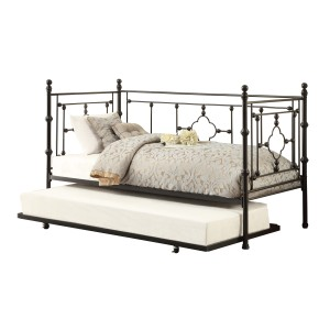 Metal Daybed with Trundle/4968BK-NT
